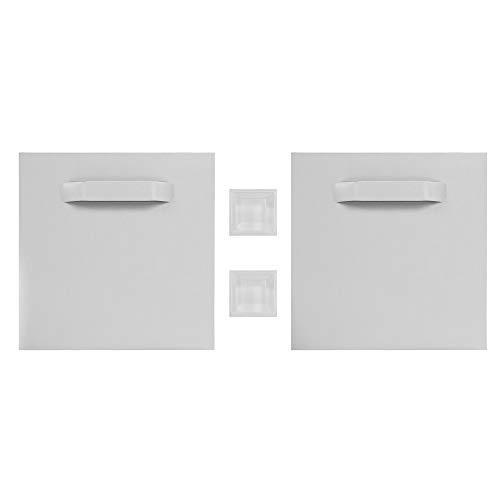 Haftbleche / Spiegelaufhänger SET (+ Abstandhalter), ZHB000121, 100 x 100 mm, bis zu 12 Kg Tragkraft, Aufhänger für Spiegel, Glasbilder, Alu-Dibond. selbstklebend