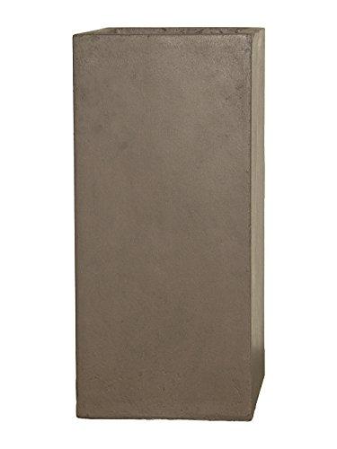 Pflanzwerk® Maceta Tower Chocolate 70x33x33cm *Resistente a Las heladas* *Protección UV* *Calidad Europeo*