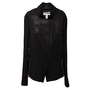 Joseph Ribkoff 3868AC Giacca Donna Tissue eco Suede Effect Black Jacket Women