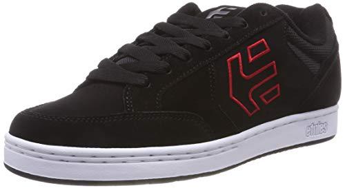 Etnies Herren Swivel Skateboardschuhe,Schwarz (Black/Red 595), 42.5 EU