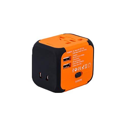 Adaptador de corriente universal para viajes inter Adaptador de viaje en todo el mundo, adaptador Toma de viaje Universal Converter Plug, convertidor conector USB Adaptadores de enchufes de tomacorrie