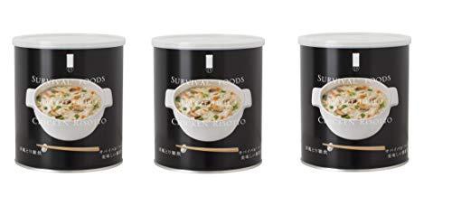 株式会社セイエンタプライズ サバイバルフーズ 洋風とり雑炊 (2&ハーフ缶 スペースセーバーコンプレス)