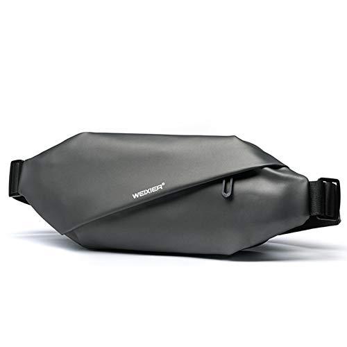 ZXDDD Waist Pack PU téléphone Portable en Cuir Durable Portefeuille Grande capacité Casual Sac de Taille réglable Multifonctions Sac Messenger pour Chemisettes,Gris foncé