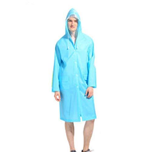 W.zz Adult Raincoat Poncho, Outdoor Travel Männer und Frauen leichte Eva Transparent Raincoat Big Brim Translucent Matte,D,M
