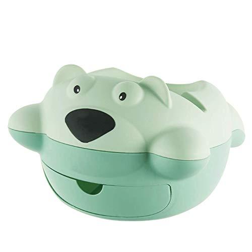 Weiyue Aufbewahrungsbox- Doppelte Faule Melone sät Teller-Haushalts-Obst-Platten-Desktop-Mülleimer (Farbe : Green, größe : 26x24.5x16cm)