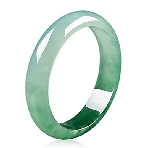 GvvcH Brazalete Pulseras Joyas de Jade Natural Pulsera de Jade Puro Verde Real Significado Afortunado Sano Sin Peligro, 60mm / 2.36inch