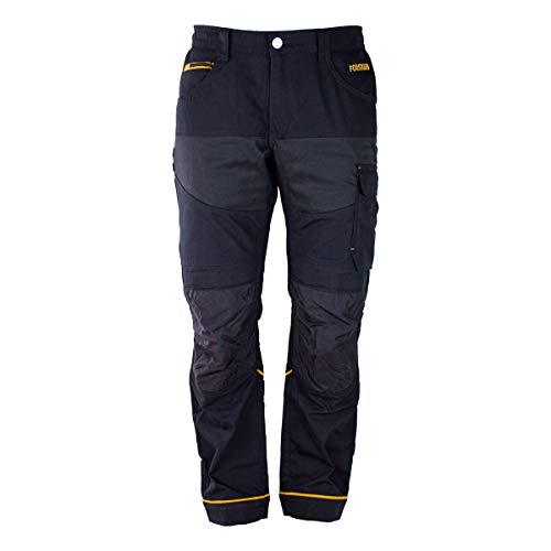 FORSBERG Lutsman Arbeitshose mit elastischen Stretchzonen, robuste Handwerkerhose mit Cordura® Stretch, Farbe:schwarz, Größe:58