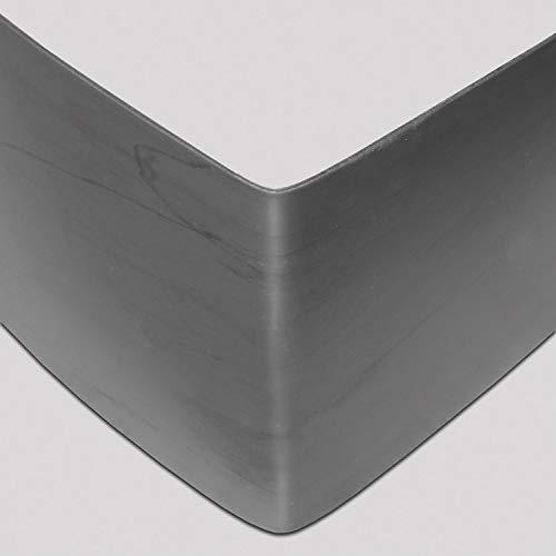 Preisvergleich Produktbild bellissa Rasenkante aus Kunststoff - 99682 - Anthrazit,  UV-beständig und robust - inkl. Verbindungsteile,  118 x 13 cm,  Nutzlänge 1, 15 m