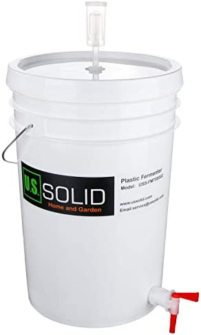 Plastic Fermenter Fermenting Bucket with Spigot and Airlock 6 5 Gallon product image
