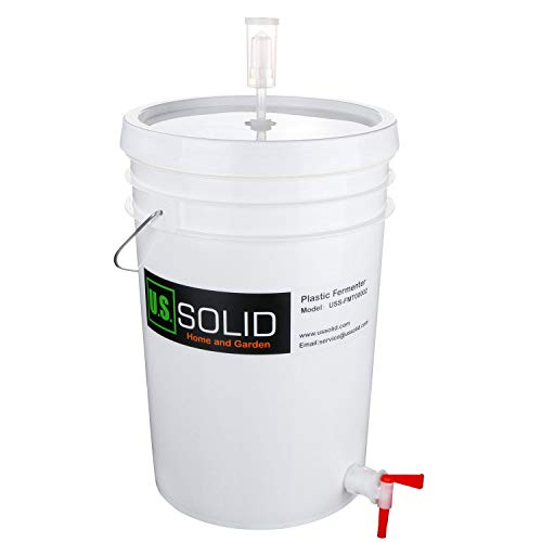 Plastic Fermenter Fermenting Bucket with Spigot and Airlock, 6.5 Gallon