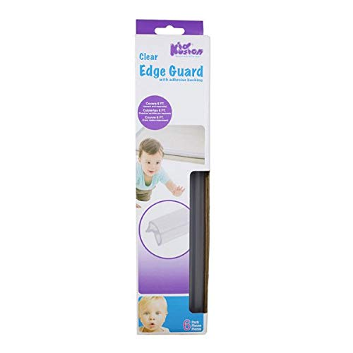 Kidkusion Clear Edge Guard | Table and Edge Bumpers | Clear | 6'
