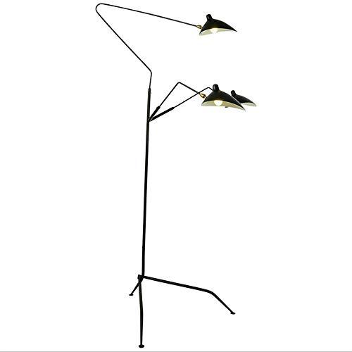 Nordic Restaurant Stehlampe Entenschnabel Lampe Persönlichkeit kreative dreiköpfige Klaue Tanz vertikale amerikanische Schmiedeeisen Stehlampe