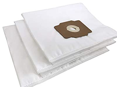 Vacurama Premium Central Vacuum Bags - For Beam, Electrolux, Eureka, Kenmore, Husky, Mastercraft, White Westinghouse, Nutone Broan, Nilfisk, & Other Brands - Tear-Resistant Non-Woven Cloth - Pack of 3
