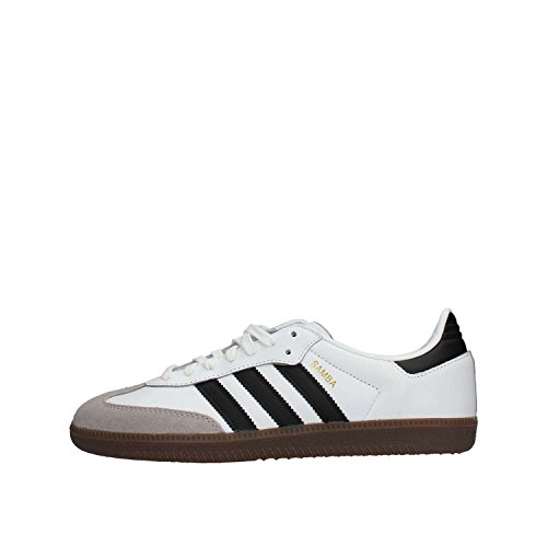 Adidas Samba OG, Zapatillas de Gimnasia para Hombre, Blanco (Footwear White/Core Black/Clear Granite 0), 42 2/3 EU