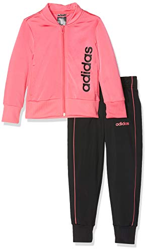 adidas Youth Polyester, Suits Bambina, Real Pink S18/Black/Real Pink S18, 1314