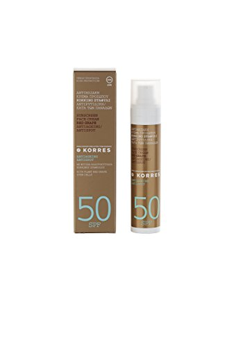 Korres Red Grape Anti-Dark-Spot Sonnencreme für das Gesicht SPF 50, 1er Pack (1 x 50 ml)