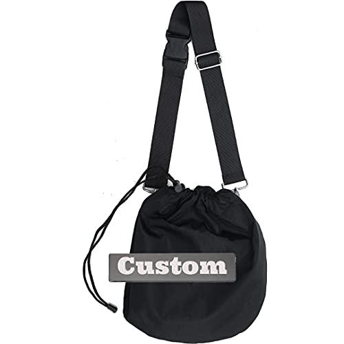 Fireh. Zaino di messaggistica personalizzato del nome personalizzato per la borsa a tracolla Borsa in nylon del crossbody della scuola (Color : Black, Size : One size)