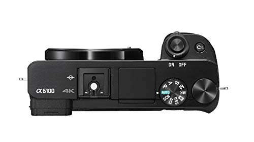 Sony Alpha 6100 Mirrorless APS-C Camera with 16-50 mm Power Zoom Lens - 0.02-Seconds Fast AF, Real-Time Eye AF for Human and Animal, 4K Video and Flip Screen