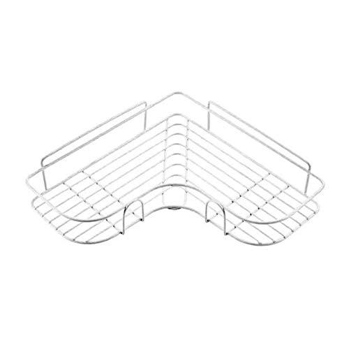 YANGPING HONGHUAER Estanterías Lluvias Estante de baño Estante de Mátil Almacenamiento de Metal Acero Inoxidable Punch-Free Firma Cocina Pinchada Mural Muro de Muro Organizador Rack (Color : W