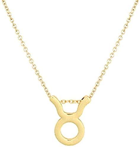 BACKZY MXJP Halskette Halskette Widder Taurua Zwillingskrebs Leo Jungfrau Waage Wassermann Sternzeichen Halskette Für Frauen Wish Card Geschenk