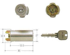 MIWA(美和ロック) U9シリンダー RAタイプ 鍵 交換 取替え用 MCY-112 85RA・82RA