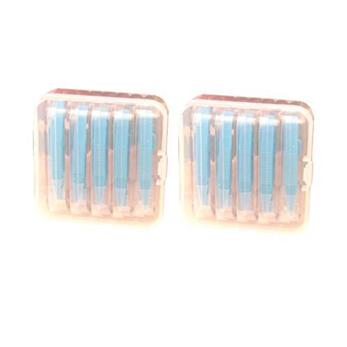 HEALLILY Portable Porte-Outils Insertisseur Remover Bâton Boîte à Outils Ensemble Pince à Épiler Pointe en Plastique Support de Pince à Épiler Bâton Outil Bleu