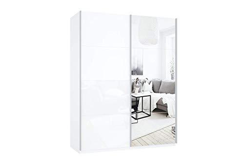Prime 2110 Schrank mit Spiegel- und Glasschwebetüren 160x210 cm
