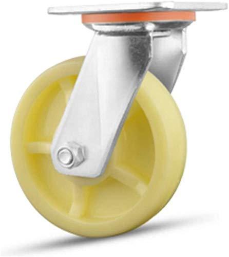 LICCC Möbelrollen Schweres Weiß Nylon Tieflader-LKW Trolley Industrie Castor Räder, Bürostuhl Drehstuhl Universal-Rad, ersetzt Zubehör Brems Muten Möbelrollen Super-Last (Color : B, Size : 8in)