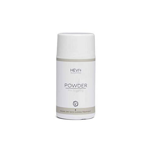 HEVI Sugaring Powder 50g | Hautpuder vor Haarentfernung mit Zuckerpaste anwenden für vollständig trockene Haut | Entscheidend für schönes, haarfreies Ergebnis | Für ganzen Körper | Männer und Frauen