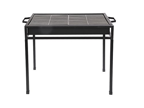 GRILL XXL DELUXE STANDGRILL BBQ 80 x 50 CM GRILL BARBEQUE HOLZKOHLE NEU
