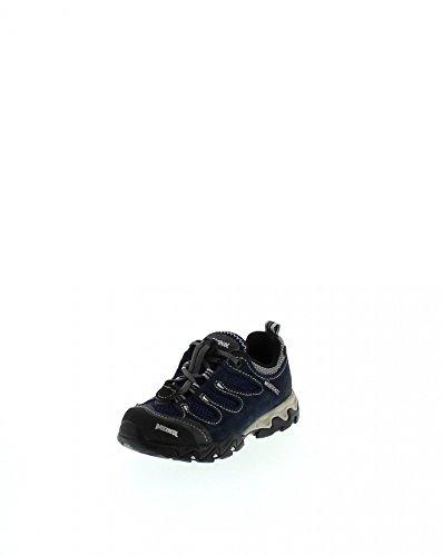 Meindl Chaussures de randonnée Tarango Junior Low Rise - Pour enfant - Unisexe - Gris mûre - Bleu - Argent marine., 38 EU