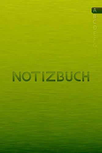 Notizbuch mit ABC Register: Notizbuch mit Buchstabenregister in DUNKELGRÜN ca. A5 | über 110 Seiten