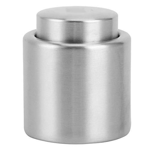 EXID Botella de vino - Tapón de tapón de botella de vino de acero inoxidable Tapón de vacío Vino tinto Champán Sellador de tapas Accesorios(S)