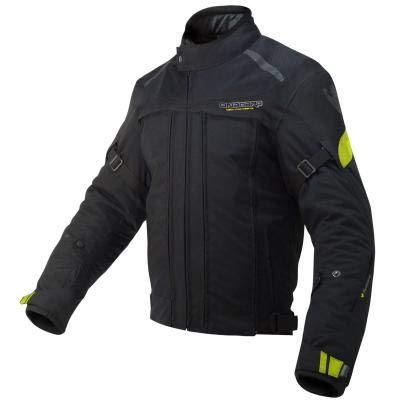 ON BOARD JMADE - Chaqueta Cazadora Moto Short ´´Addict EVO 4S´´ Color Negro/Amarillo/Fluor Talla 4XL