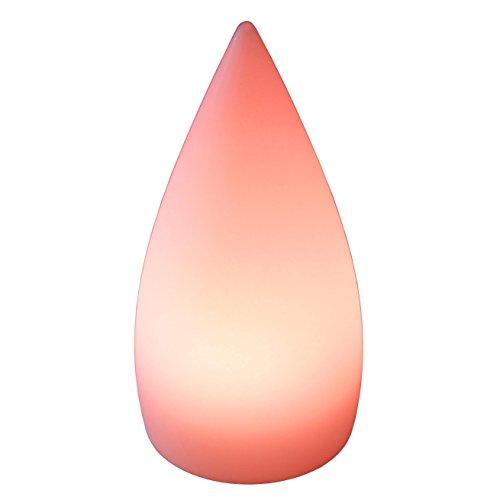 LED Cône lumineux Ø 12 cm H 24 cm multicolore RGB 16 couleurs sans câble avec accumulateur et télécommande Etanche et flottant IP65 Extérieur lampe mood ball decoration Luminaire Design