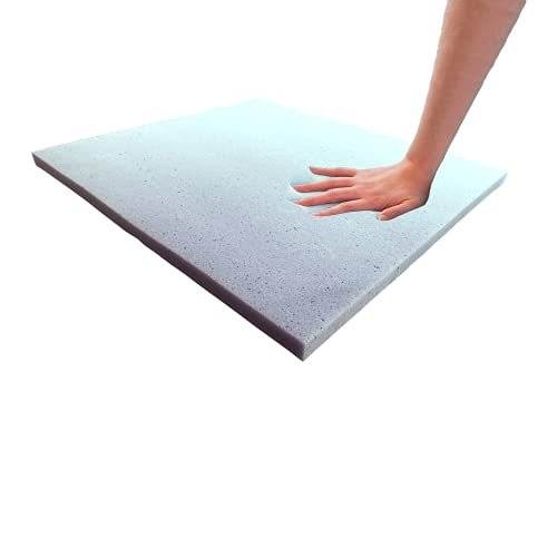 """Foamma 1"""" x 18"""" x 18"""" Cooling Gel-Infused Memory Foam Cushion, Seat Replacement, Padding, Chair Cushion Square Foam, Dining Chairs, Wheelchair Cushion Replacement"""