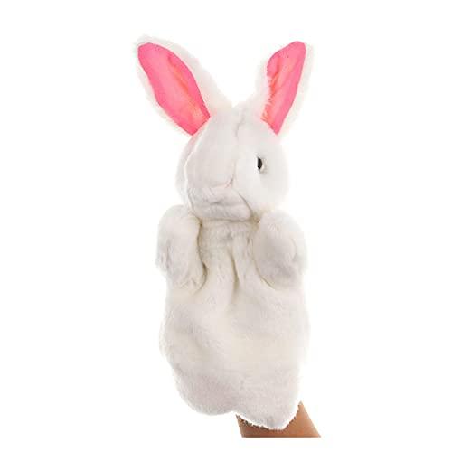 Fuxwlgs títeres de Dedo Mano Animal títere muñecas de Gato de Felpa Muñeca de Mano Educación temprana Aprender Juguetes niños Marionetas Pupones for Contar Historias (Color : Rubbit)