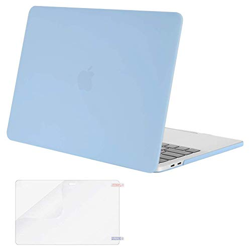 MOSISO MacBook Pro 13 inch Case 2019 2018 2017 2016 Release A2159 A1989 A1706 A1708, Plastic Hard Shell Case&Screen Protector Compatible with MacBook Pro 13 inch with/Without Touch Bar, Airy Blue