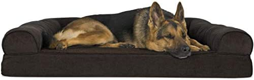 Best Furhaven Pet Dog Bed - Orthopedic Faux Fleece & Chenille Soft Woven Traditional Sofa-Style Living Ro