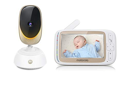 """Motorola COMFORT85 Connect Video Baby & Home Monitor with 5"""" HD Display and Wi-Fi Viewing, Digital Tilt and Zoom, Remote Pan Scan, Night Vision and Mood Lighting"""