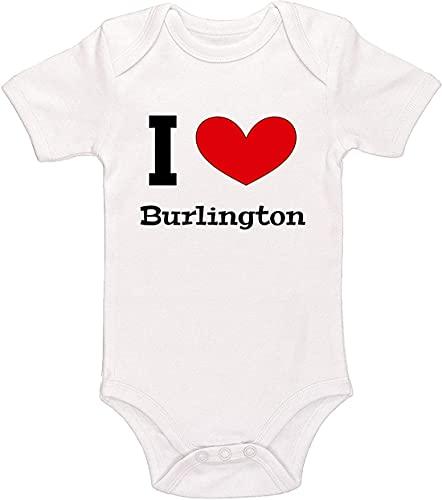 I Love Burlington Baby Girl Boy Meme Outfit Bodysuit Printed Onesies