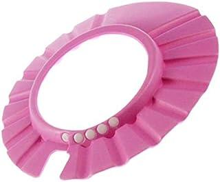 قبعة ناعمة لحماية الشعر من الاستحمام للأطفال والرضع، باللون الوردي من سوزن