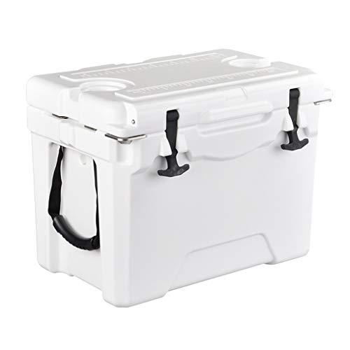 Eiskübel Stoßfester Inkubator Kühlbox Outdoor Food Frische Packung Lieferung zum Mitnehmen Tragbares Auto Cold Merchant Home 36,5 * 21,5 * 28,5 cm XMJ (Color : White)
