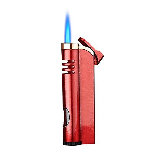 MALMESガスライター詰め替えターボ注入式 ターボライター ガス注入式 小型ブタントーチシガーライター、[マルメス]詰め替え式キッチンブロートーチライター、Bbqグリル用花火、暖炉、シガレット、調理、キャンプ(ブタンガスは含まれていません)[赤]