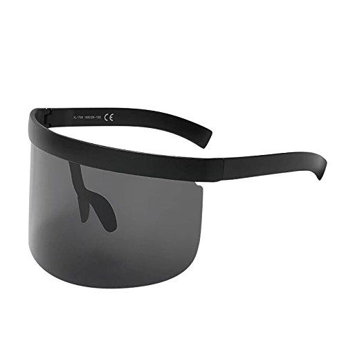LIMITA Unisex Vintage Sonnenbrille, Übergroße Sonnenbrille für Frauen Retro Oversized Frame Hut Eyewear Herren Fahrradbrille Anti-Peeping UV Schutz Brillen für Golf Outdoor Sport Angeln