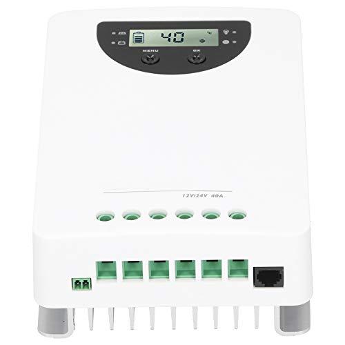 aukson Controlador de Carga Solar, 40A MPPT Soporte de monitoreo inalámbrico Soporte de múltiples Tipos de batería para Barcos, Yates, caravanas, caravanas, Coches de Golf y Equipos agrícolas