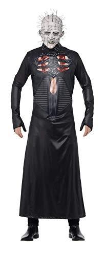 Smiffys, Herren Pinhead Kostüm, Bedruckte Tunika und Maske, Hellraiser, Größe: M, 27149