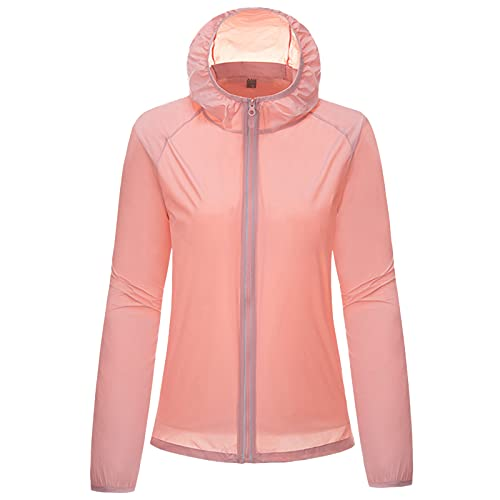 Dasongff Chaqueta de lluvia para mujer, resistente al agua, parka, cortavientos, ligera, con forro transpirable y capucha, resistente al viento, chaqueta deportiva para exteriores