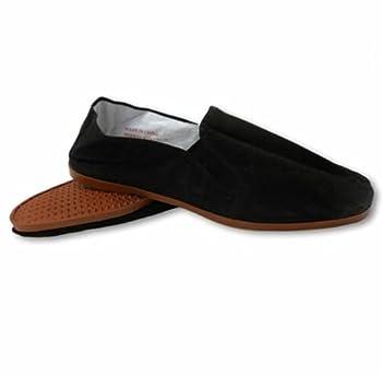 Shoes8teen Men s Martial Art Kung Fu Tai Chi Rubber Sole Canvas Shoes  Black Rubber 11