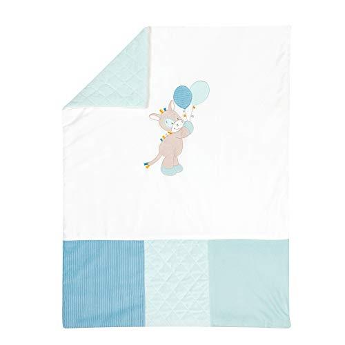 Nattou Manta para bebés del Caballo Tim, 75 x 100 cm, Tim y Tiloo, Azul